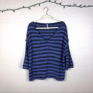 Free People   Drop Shoulder V-Neck Sweater M